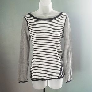 Tory Burch Long Sleeve Striped Knit Top Small
